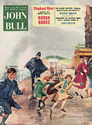Vacations Drawings Prints - John Bull 1956 1950s Uk Police Print by The Advertising Archives