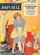 Nineteen Fifties Drawings - John Bull 1957 1950s Uk Balloons by The Advertising Archives