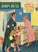 Fifties Drawings - John Bull 1957 1950s Uk Cooking by The Advertising Archives