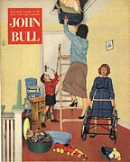 Featured Metal Prints - John Bull 1957 1950s Uk Lofts Attics Metal Print by The Advertising Archives