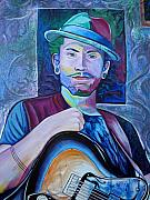 Guitar Paintings - John Butler by Joshua Morton