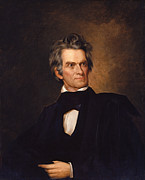 American Politician Painting Framed Prints - John C Calhoun  Framed Print by War Is Hell Store