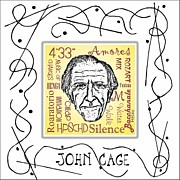 Composer Digital Art - John Cage by Paul Helm