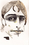 Watercolor Mixed Media Originals - John Cale by Mark M  Mellon