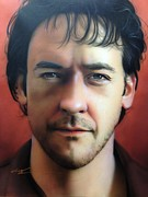Famous People Prints Framed Prints - John Cusack Framed Print by Christian Chapman Art