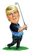 Famous Golfers Framed Prints - John Daly Framed Print by Art