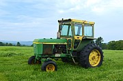 Haying Photos - John Deere 4030 Tractor by Sharon L Stacy