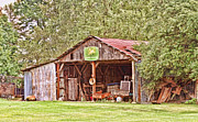 Arkansas Framed Prints - John Deere Barn Framed Print by Scott Pellegrin