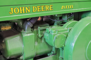 Machinery Photo Framed Prints - John Deere Diesel Framed Print by Susan Candelario