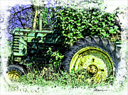 Turf Digital Art - John Deere Series B Tractor by EricaMaxine  Price