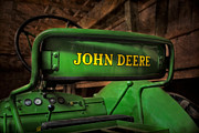 Machinery Photo Framed Prints - John Deere Tractor Framed Print by Susan Candelario