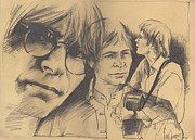 John Denver Art - John Denver Drawing by John Brandon