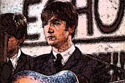 Beatles Digital Art - John by Digital  Hiccup