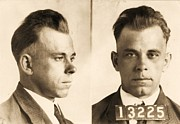 Arrest Prints - John Dillinger Print by Pg Reproductions