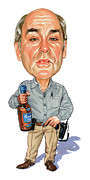 Caricaturist Prints - John Dunsworth as Jim Lahey Print by Art
