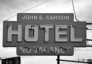 Tonight Framed Prints - John E Carson Hotel Framed Print by David Lee Thompson