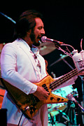 Concert Photos Art - John Entwistle of The Who at Oakland Coliseum by Daniel Larsen