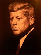 President Mixed Media - John F Kennedy  1960 by Gunter  Hortz