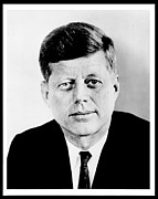 Democrat Posters - John F. Kennedy Poster by Benjamin Yeager