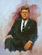 John F. Kennedy Print by Noe Peralez