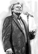 John Art Drawings - John farnham art drawing sketch portrait by Kim Wang