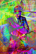 Heads Digital Art Prints - John Fitzgerald Kennedy JFK In Abstract 20130610 Print by Wingsdomain Art and Photography