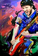Live Music Painting Posters - John Frusciante Poster by Richard Day