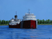 Great Lakes Ship Paintings - John G Munson by Vicky Path