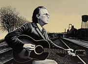 Singer Painting Framed Prints - John Hiatt Framed Print by Paul  Meijering