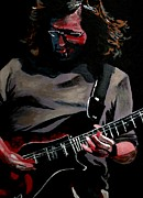 Guitarists Painting Originals - John K by Kevin J Cooper Artwork