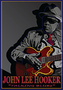 """delta Blues"" Framed Prints - John Lee Hooker Framed Print by Larry Butterworth"