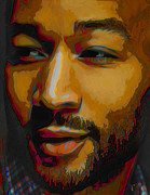 Music Legend Digital Art Framed Prints - John Legend Framed Print by Byron Fli Walker