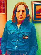 Fab Four  Metal Prints - John Lennon 1975 Metal Print by William Jobes