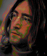 Lips Digital Art - John Lennon 2 by Byron Fli Walker