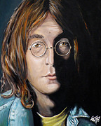 Musicians Painting Originals - John Lennon 2 by Tom Carlton
