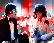 John Lennon And Mick Jagger Painting Print by Marvin Blaine