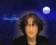 Anthony J Caruso Posters - John Lennon Poster by Anthony Caruso