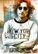 John Lennon Photographs Prints - John lennon artwork Print by Allen Beilschmidt