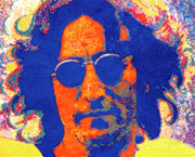New York City. John Lennon Portrait Posters - John Lennon Poster by Barry Novis