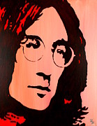Fab Four Framed Prints - John Lennon Beatles Pop Art Framed Print by Bob Baker