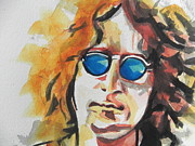 Whites Paintings - John Lennon by Chrisann Ellis
