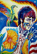 Liberty Paintings - John Lennon by Debbie  Diamond