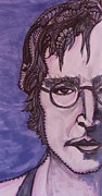 The Beatles John Lennon Drawings - John Lennon by Gerri Rowan