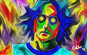 Beatles Digital Art - John Lennon by Glenn Cotler