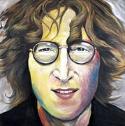 Mike Underwood Posters - John Lennon Imagine Poster by Mike Underwood