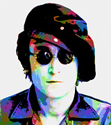 Cities Digital Art Metal Prints - John Lennon Metal Print by Jack Zulli