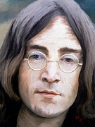 Celebrities Digital Art - John Lennon by James Shepherd
