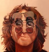John Lennon Print by Janice Dunbar