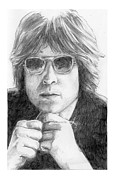 John Lennon  Drawings - John Lennon by John Sutton