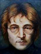 John Lennon Painting Originals - John Lennon by June Ponte
